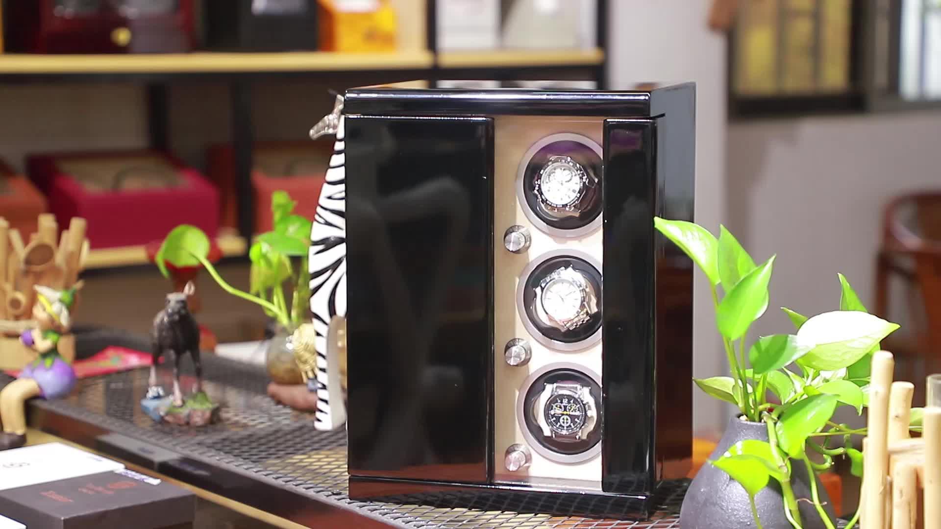 Custom 4+6 Carbon Fibre PU Leather Watch Winder