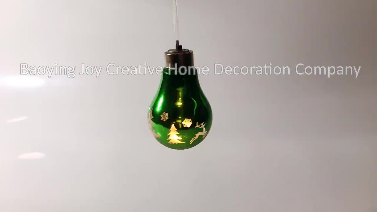unique design christmas led bulb for hanging