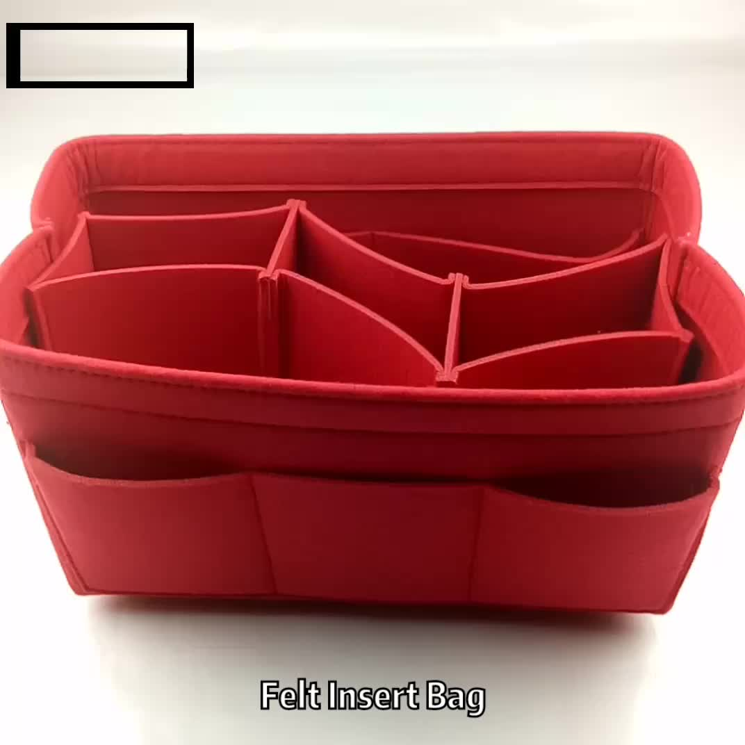 Products hot purse insert felt bag organizer with multi-size
