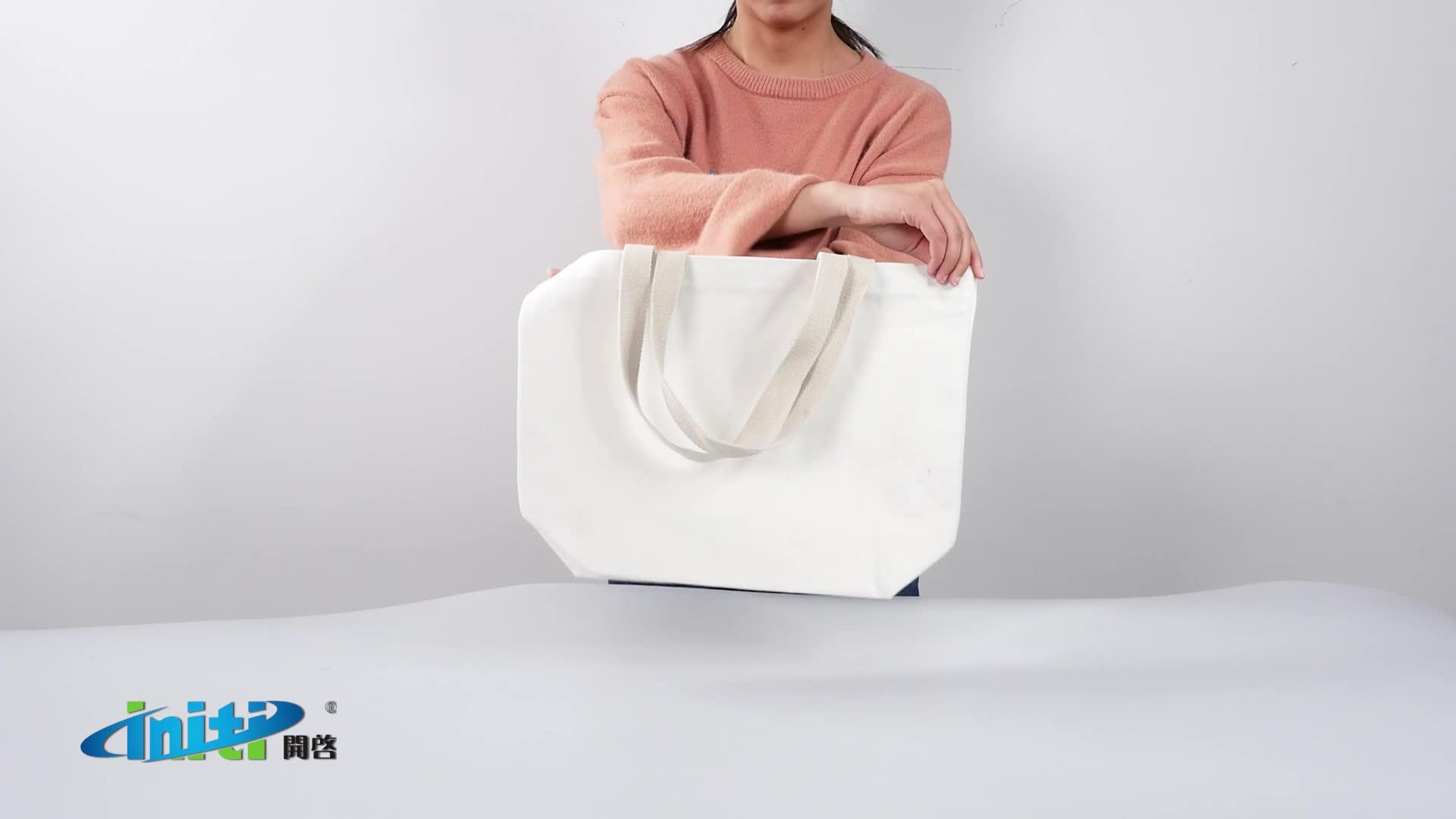 高品質コットンフルプリントショッピングキャンバストートバッグ各種カラー