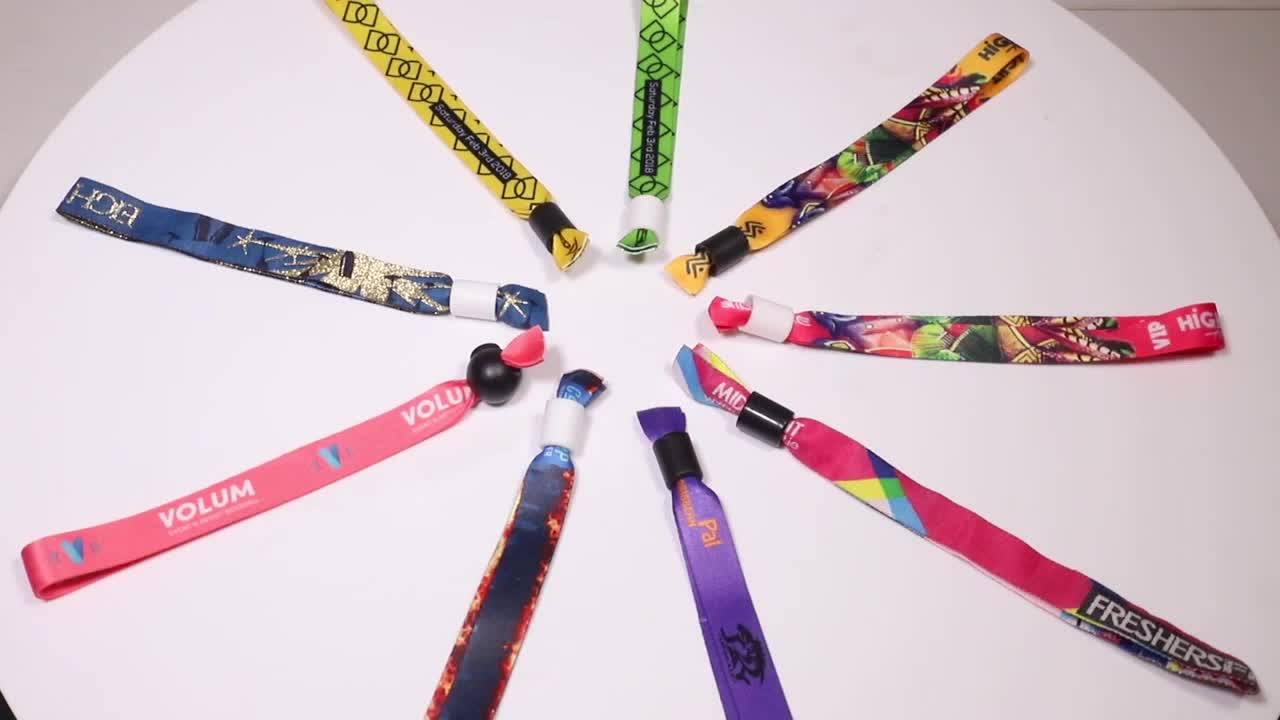 music festival fabric wristband woven bracelet,personalized woven fabric bracelets