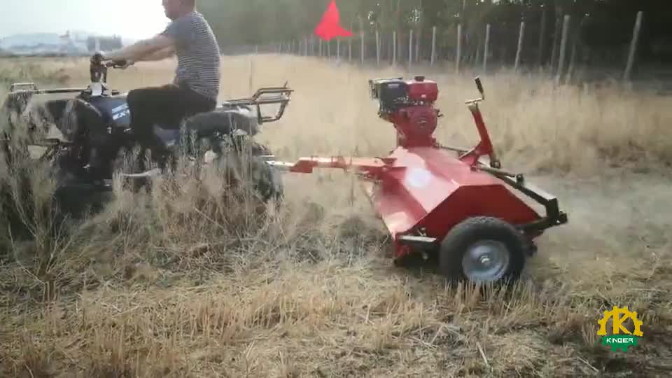 CE Approved ATV Flail Lawn Mower With 15HP Gasoline Engine