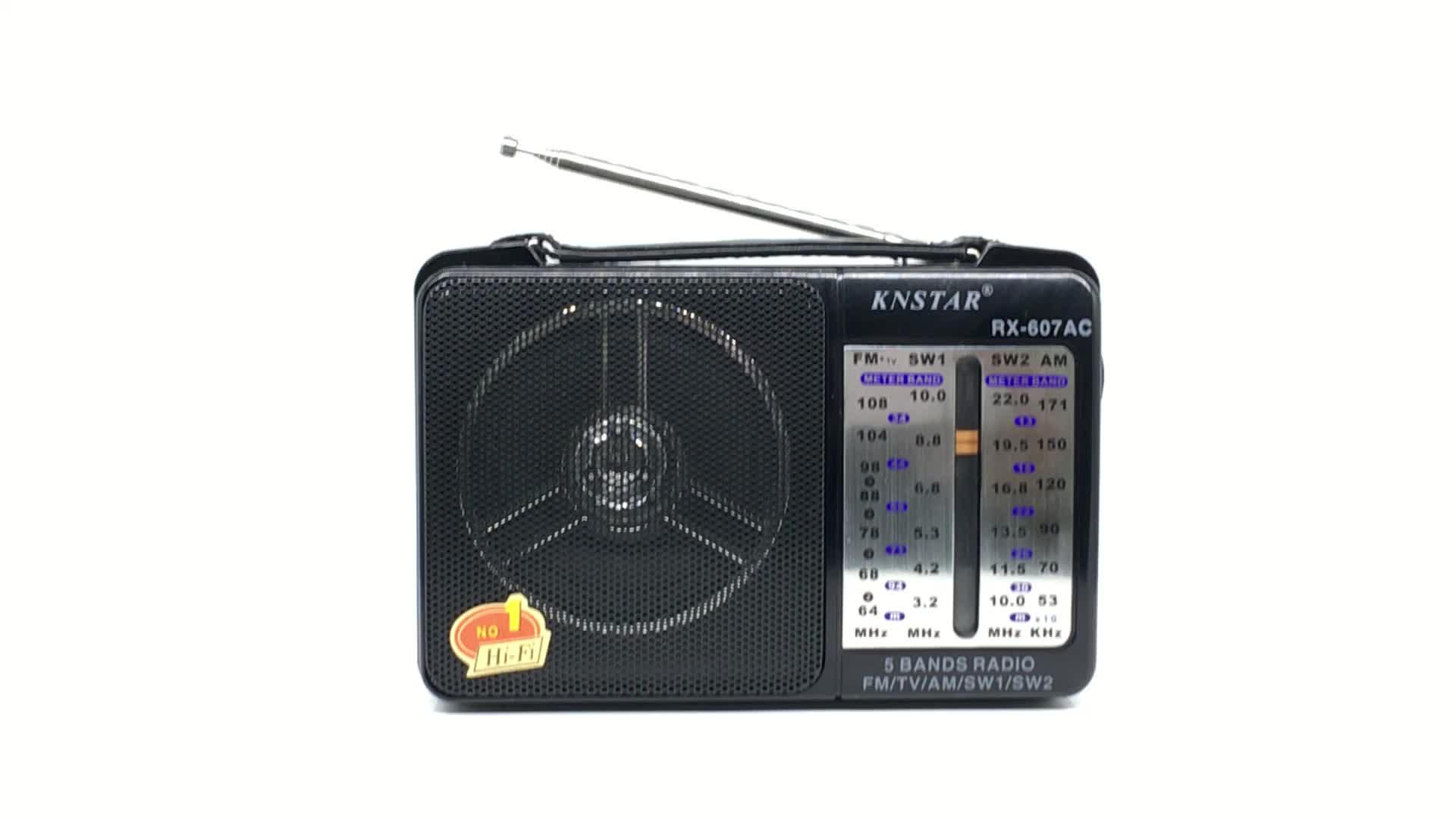 Knstar RX-607AC taşınabilir am fm radyo DSP radyo