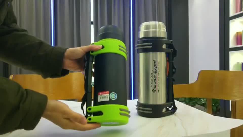 Kuangdi 1500 ml 1800 ml Vacuüm Thermoskan Reizen Pot Met Draagbare Handvat Outdoor Sport Water Fles