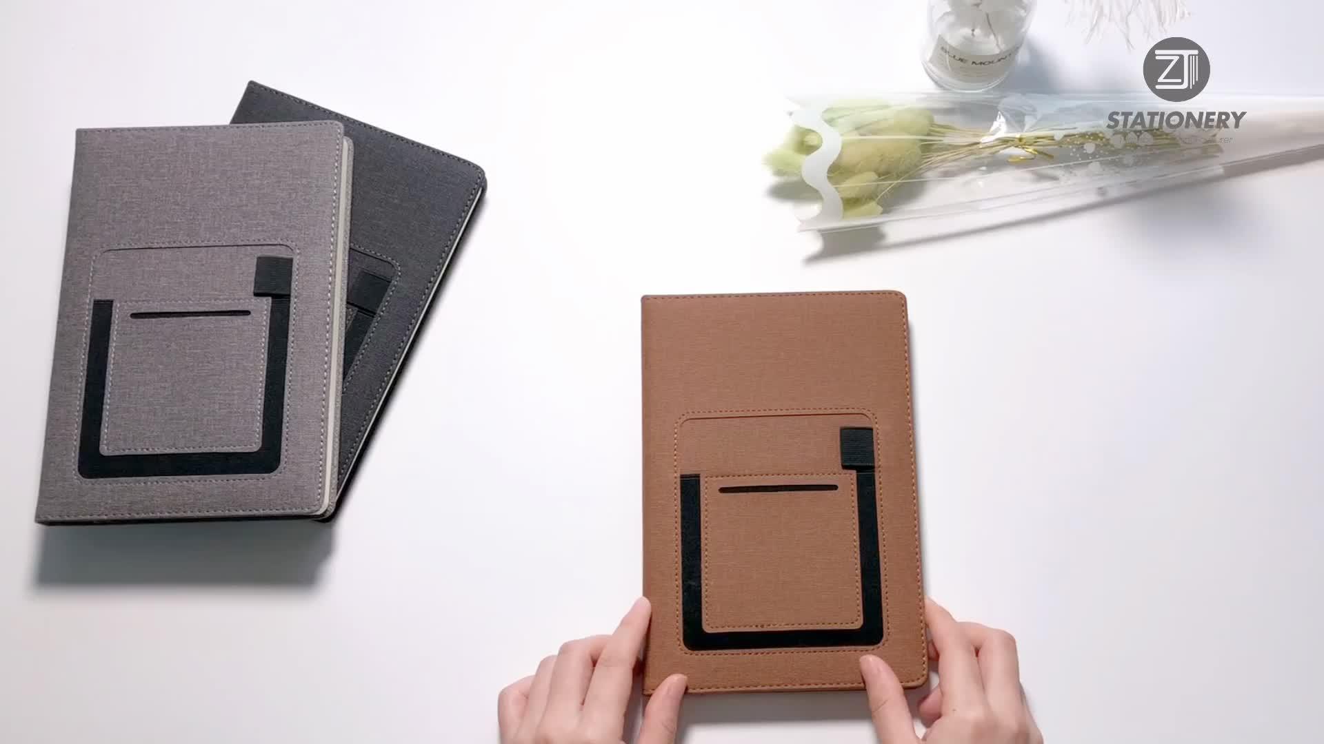 2020 새로운 도착 가죽 하드 커버 저널 유제품 전화 포켓 노트북