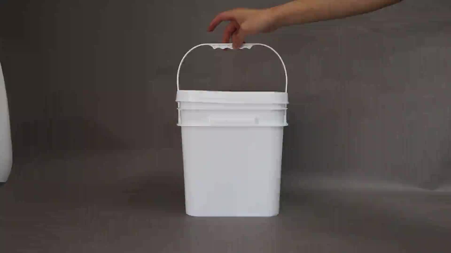 2L/4L/5L/8L/10L Hoge Kwaliteit Vierkante Plastic Emmer/drum/emmer/container