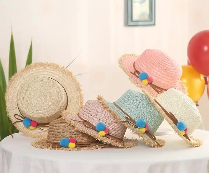 Fashion Summer Ladies Bow Straw Simulation Leaves Outdoor Sun Korean Elegant Fashion Casual Beach Hat