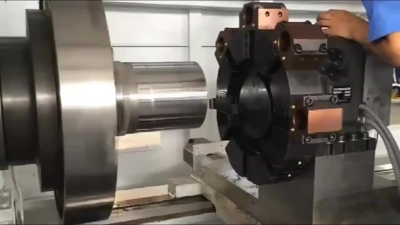 Factory Fine Digitally-Controlled Lathe machine over stock bed, pipe lathe, pipe threading lathe machine