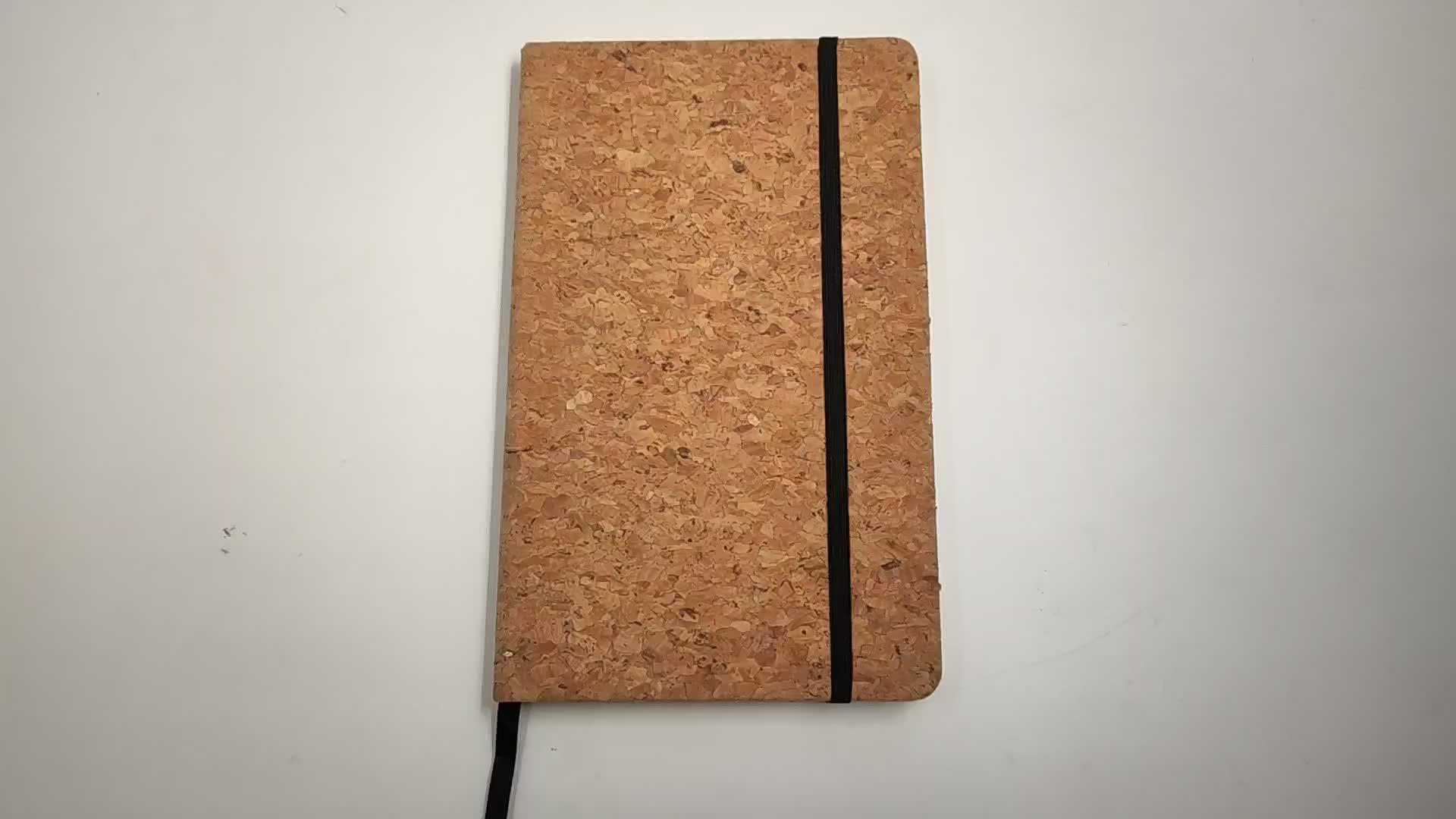 Hochwertiges, umweltfreundliches Korkmaterial A4 / A5 / A6 zum Anpassen des Notebooks mit Gummiband für Schüler