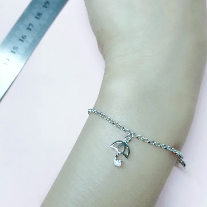 Fashion exquisite umbber Bracelet 925 Sterling Silver Anklet For Women