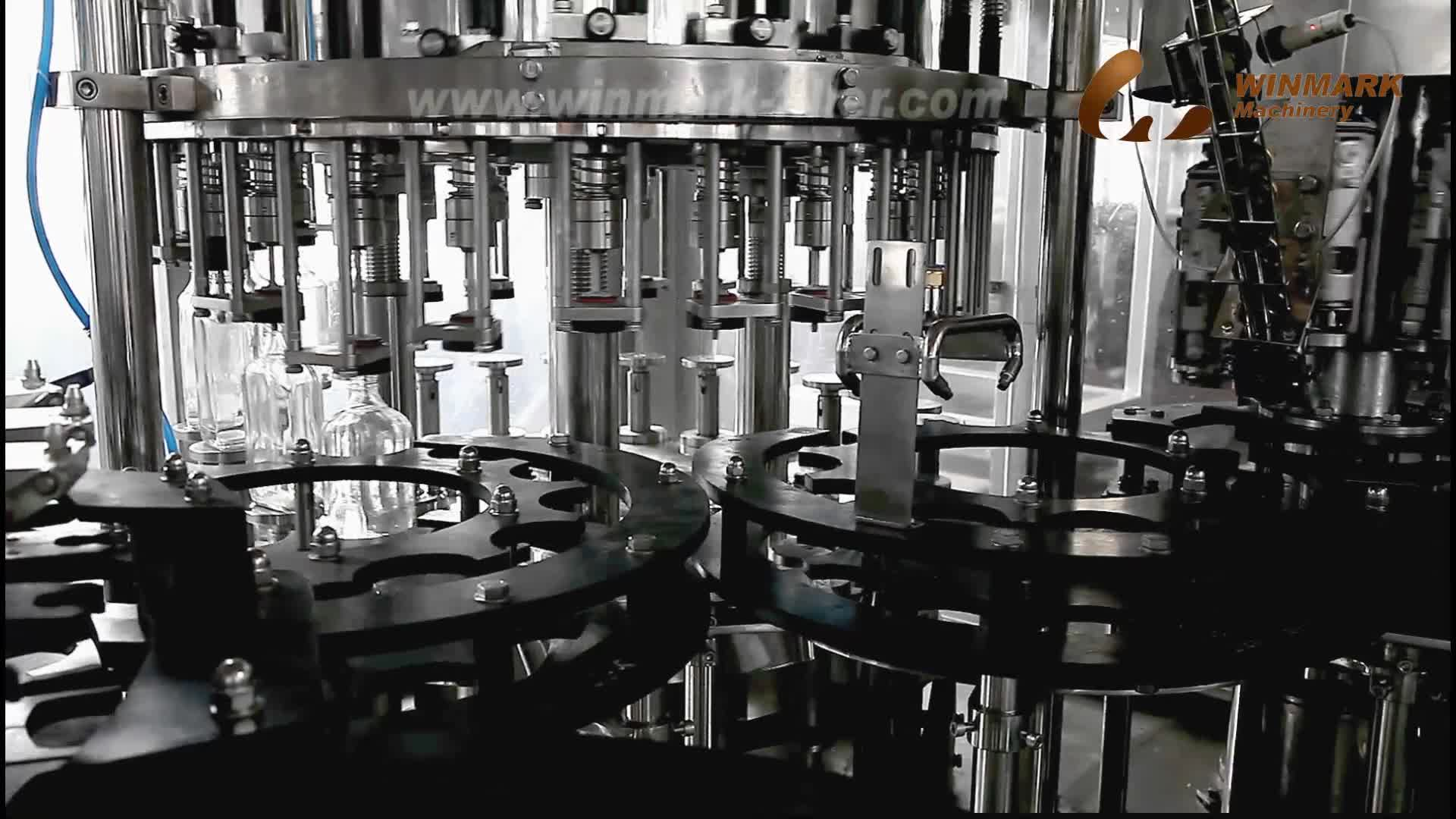 Alcohol Wine Bottle Washing Filling Capping Machine