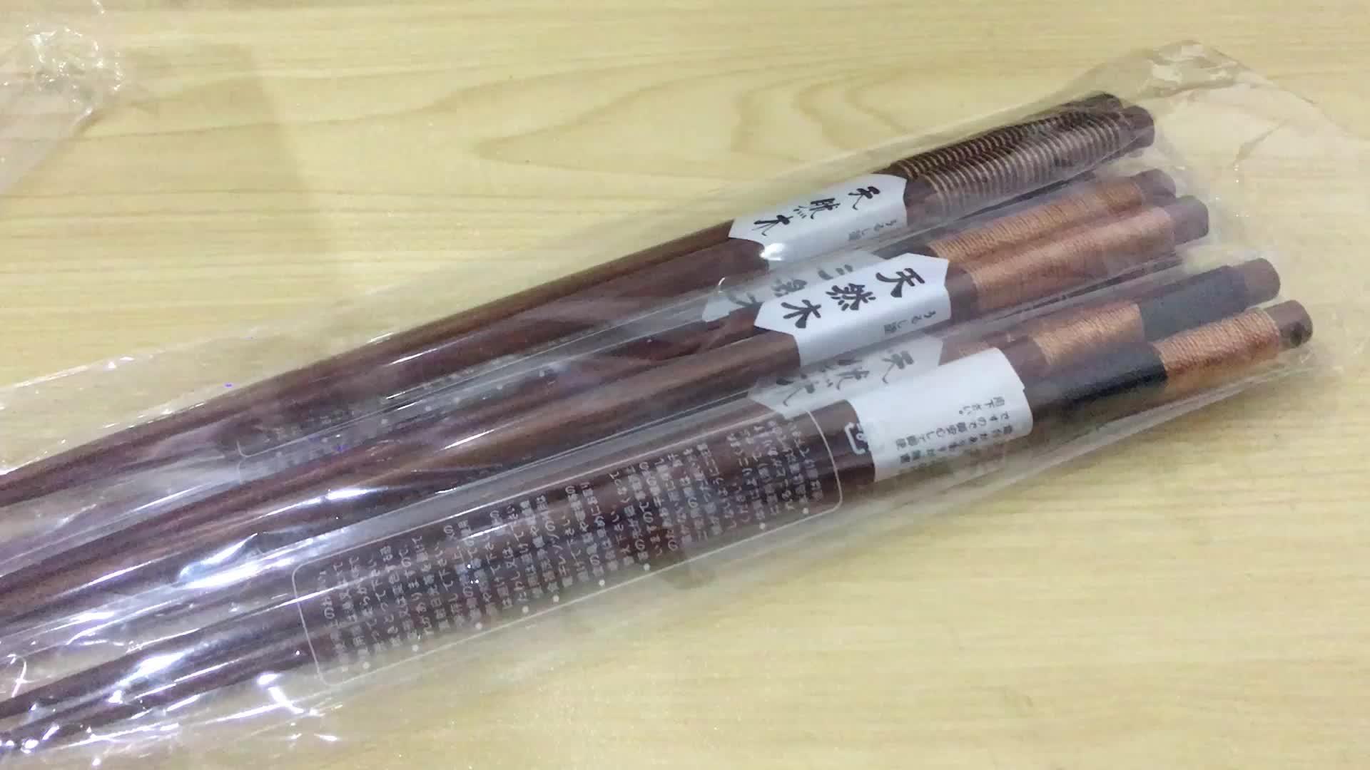 6 paia/set Elegante Fatto A Mano Naturale Bacchette di Legno di Stile Della Cina String Rotonda Durevole