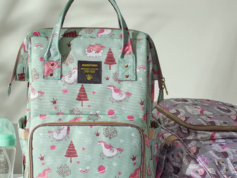 Mochila para pañales de gran capacidad, mochila de viaje multifunción resistente al agua y elegante, bolsas de maternidad para bebés