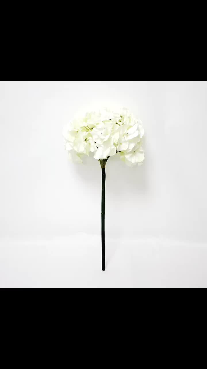 Fabric Big White Single Stem Fake Wholesale Silk Hydrangea