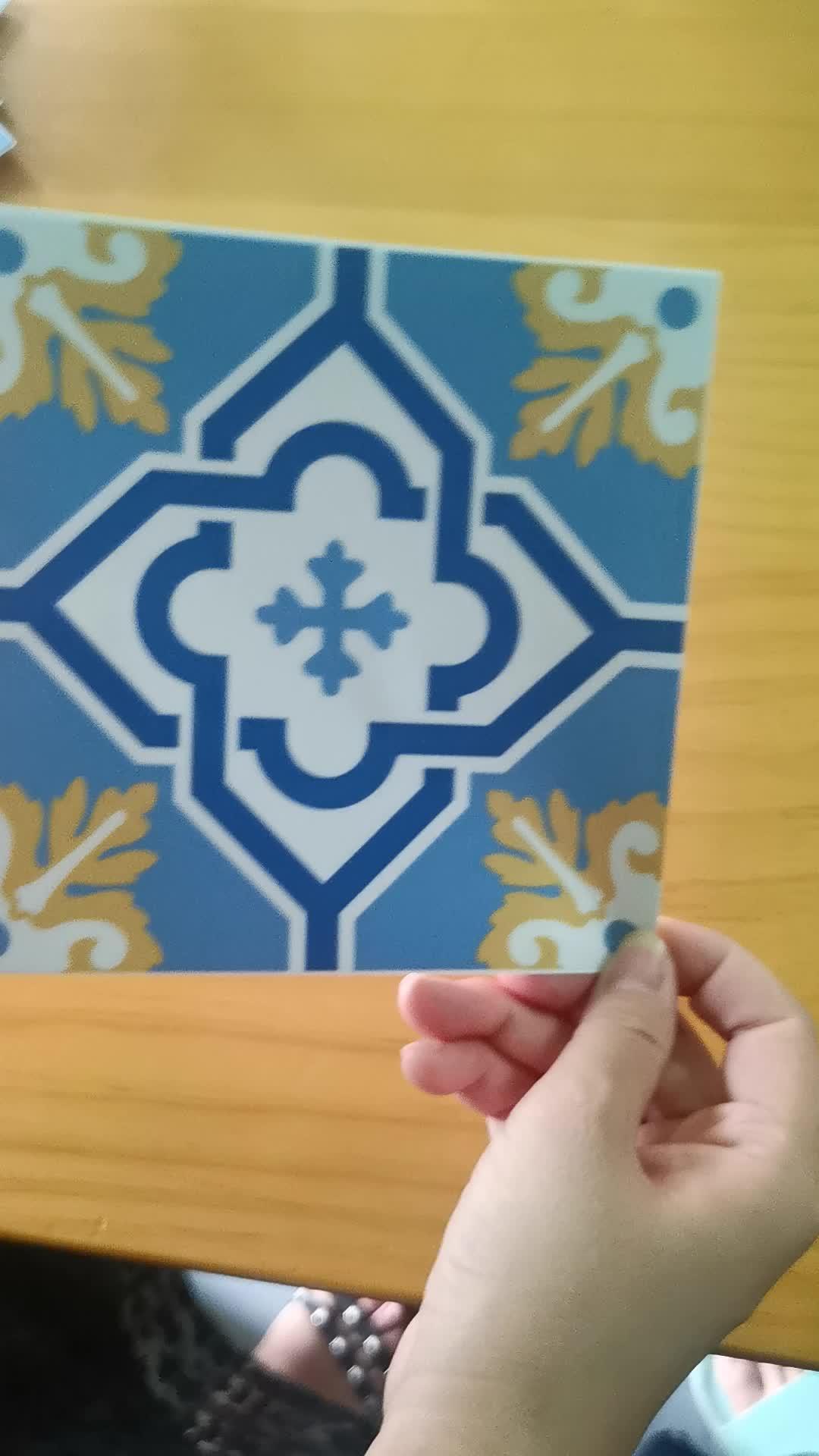 Cocina baño escalera vertical pegatinas-adhesivos contra azulejos calcomanía: Paquete de 24