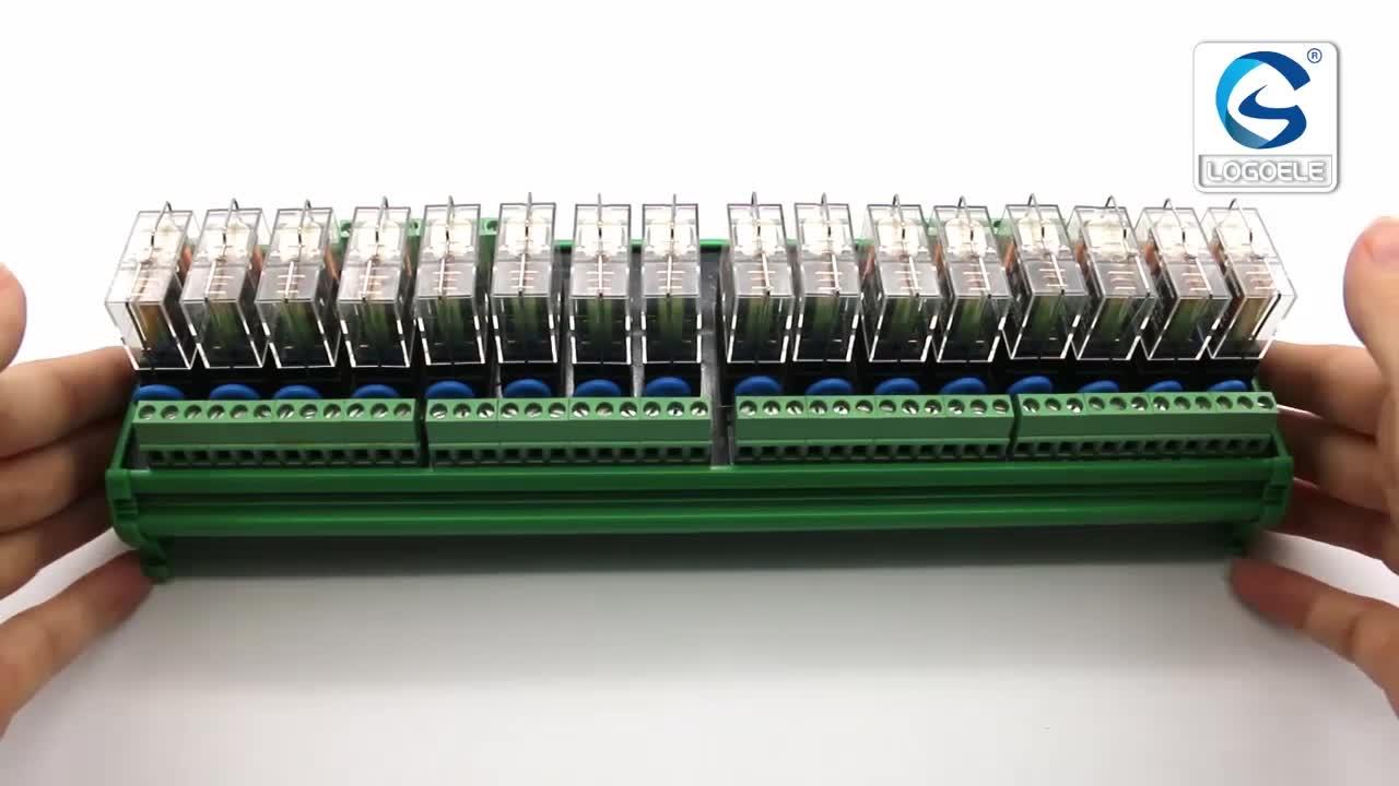 NPN PNP Chuyển Đổi Đầu Vào Đầu Ra Mười Sáu DC12V 24 v 16 kênh relay module