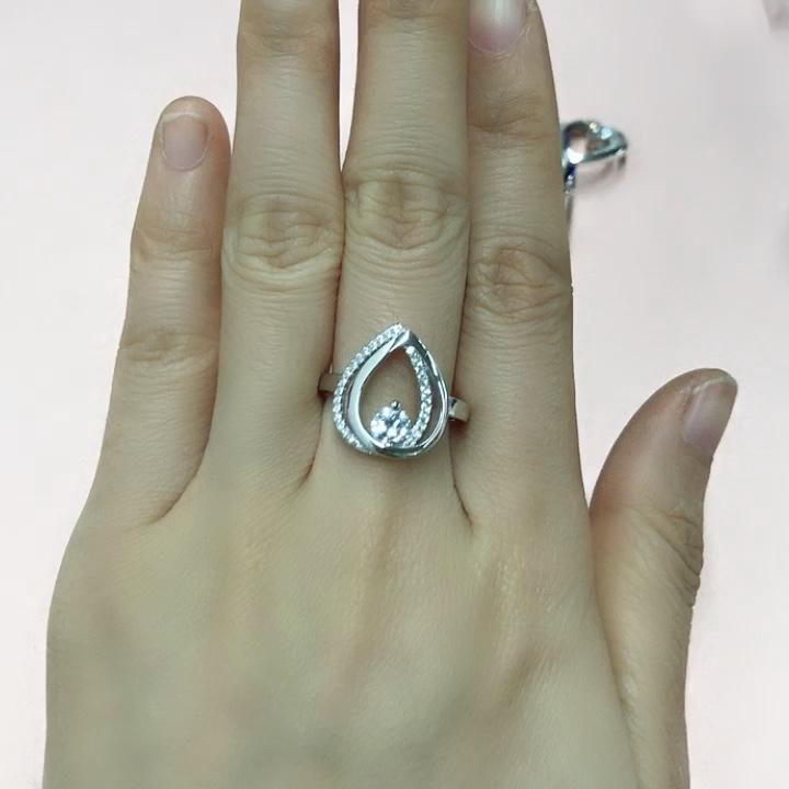 Moda Prata Esterlina 925 mulheres Anel de Casamento anillos de oro de diseo para mujeres