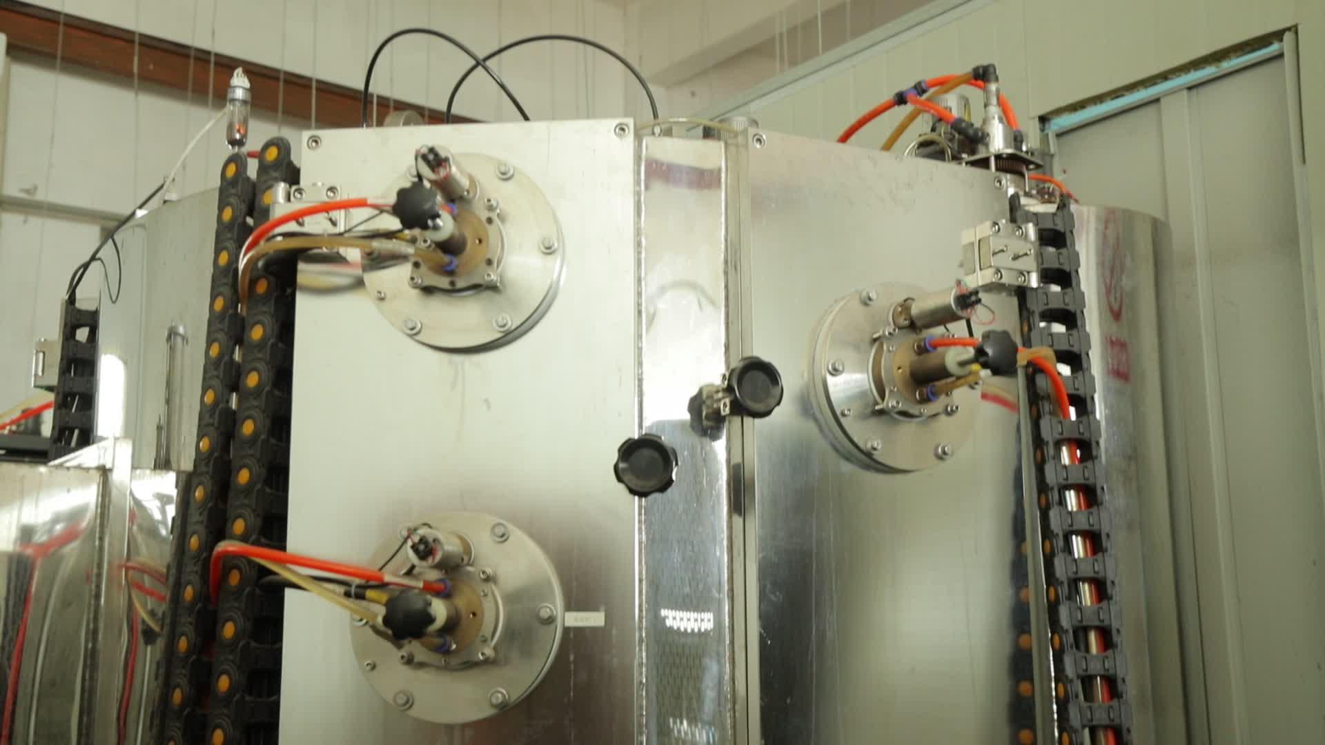 Super September Horizontale rvs pijp oppervlaktebehandeling pvd vacuüm coating machine