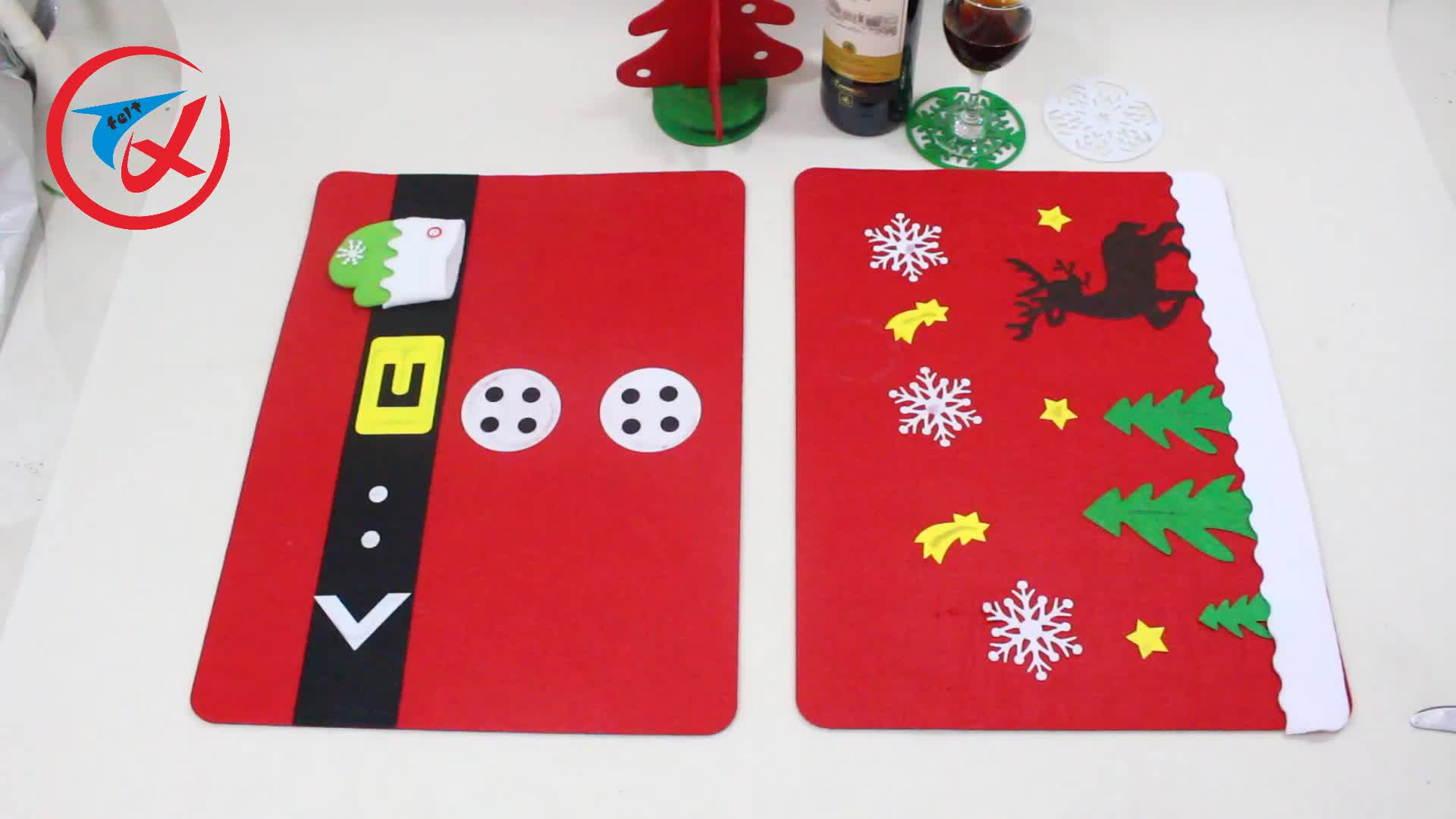 Best selling christmas items laser cut christmas table plate mats
