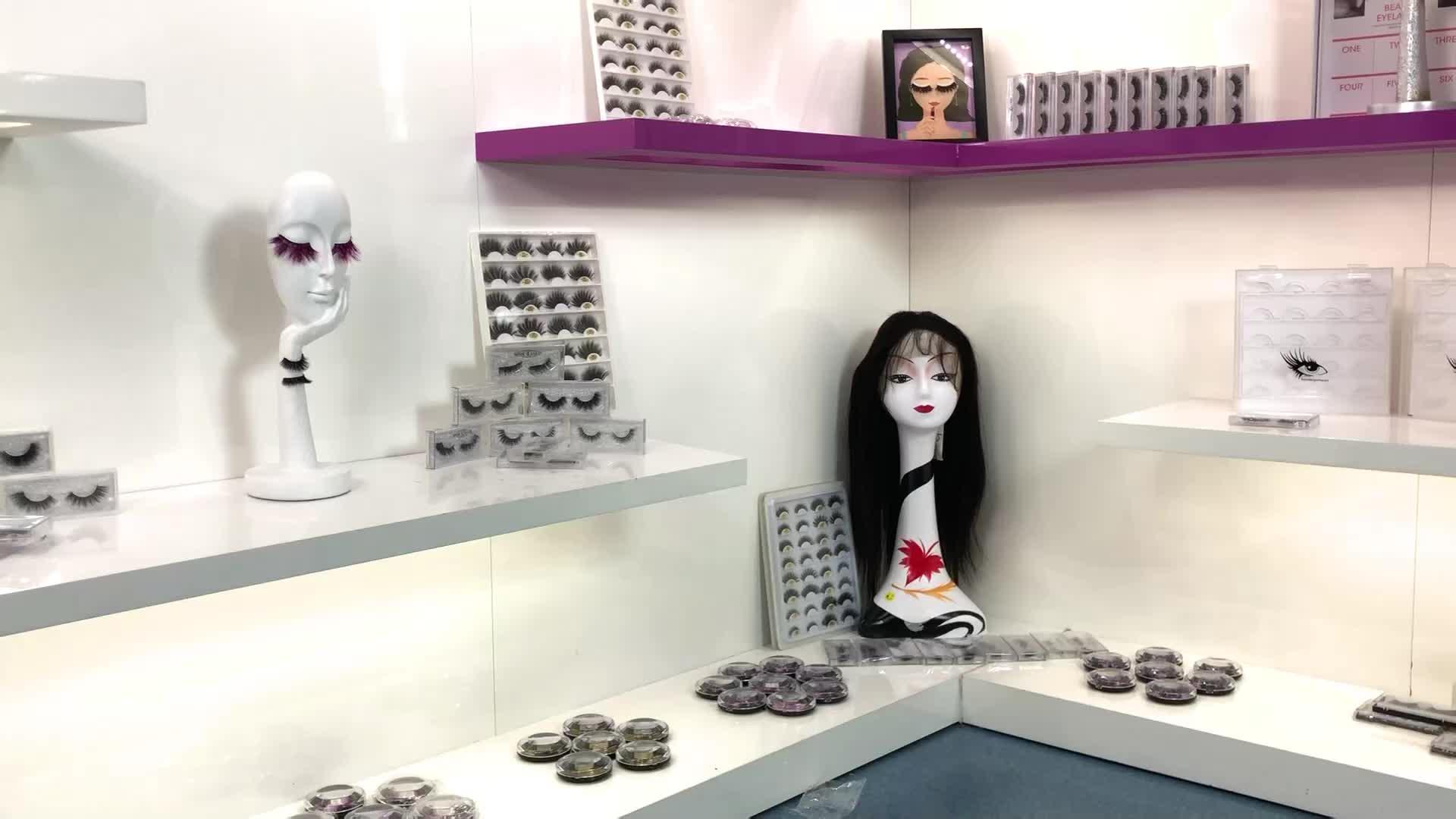 Fábrica de Qingdao lashes3d vendedor al por mayor de alta calidad 100% cabello humano real pestañas crear su propia marca de pestañas
