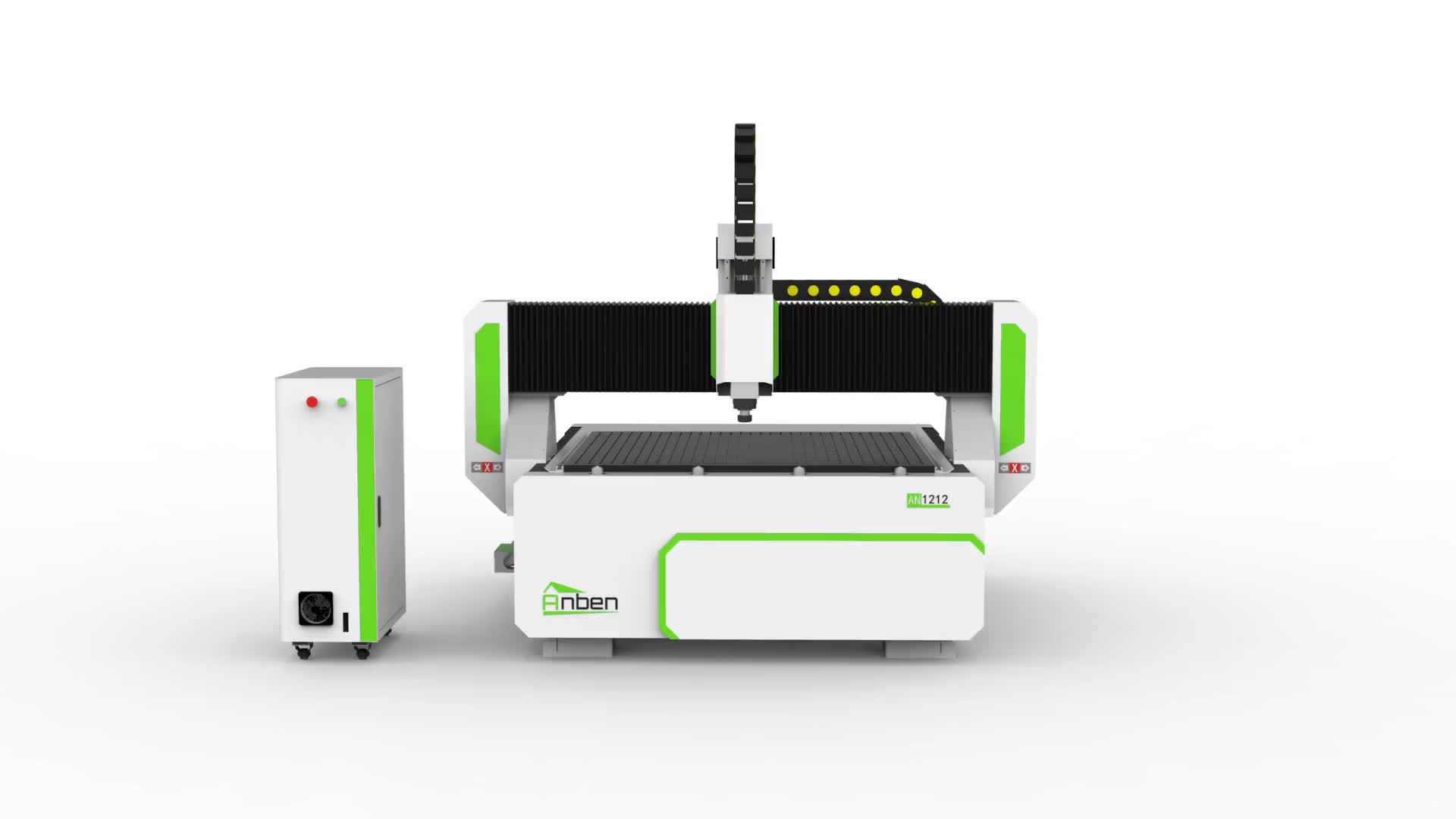 Nuevo diseño de aluminio de corte CNC enrutador con rotor de 4 ejes para la madera
