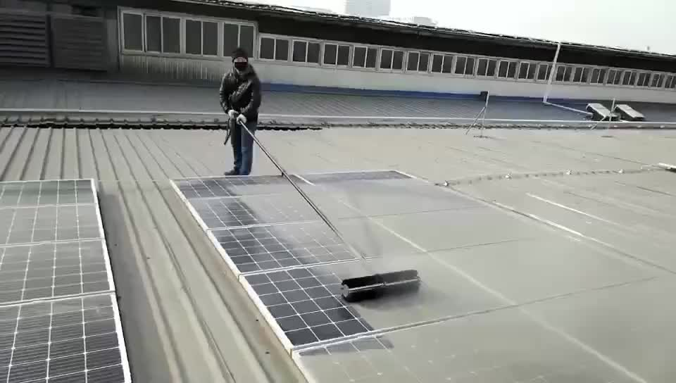 E-2 Eitai Solar Cell Cleaning New Design Telescopic Roof Cleaning Brush