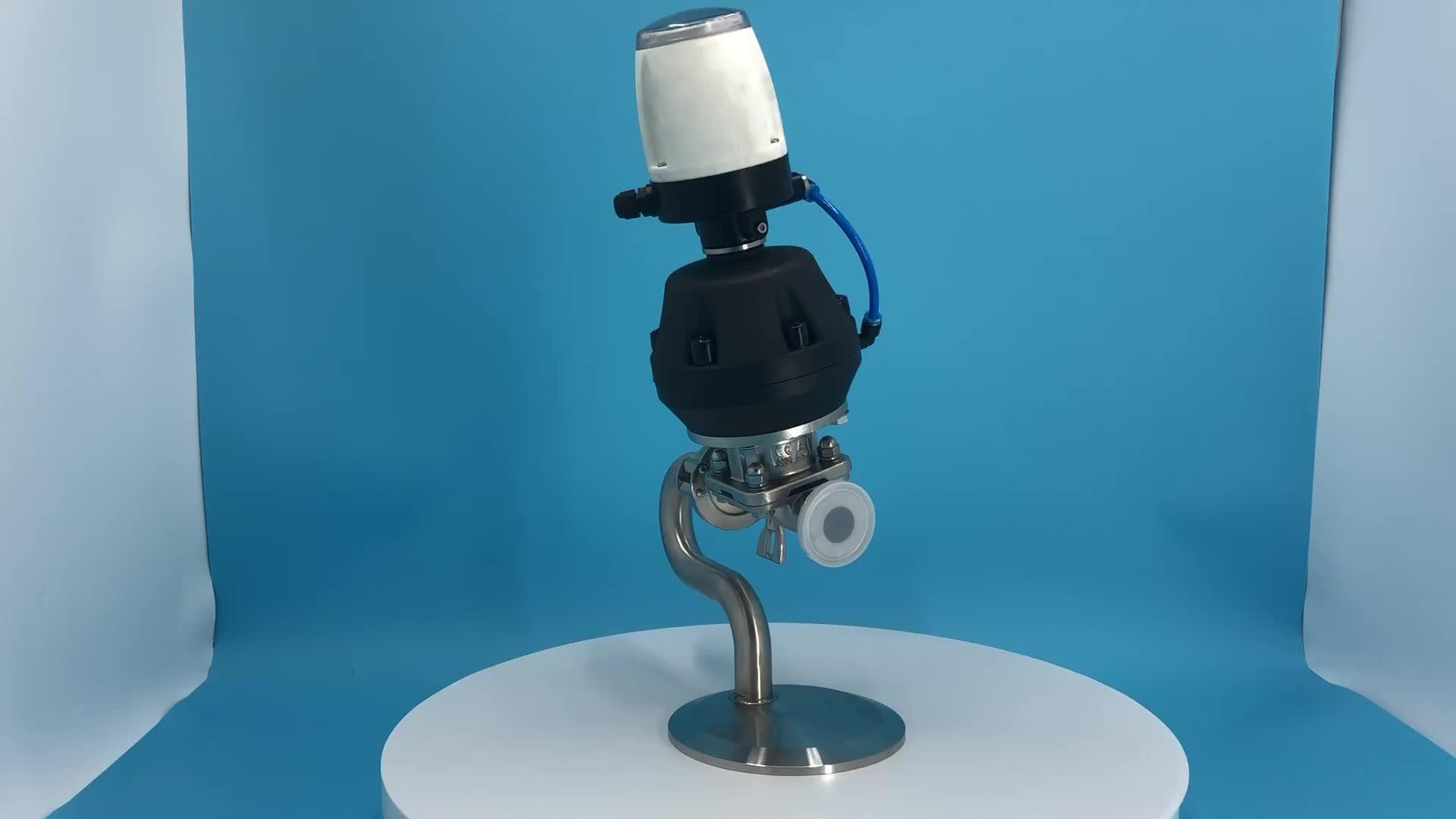 Sanitary plastic pneumatic diaphragm valve with mini C TOP for beverage