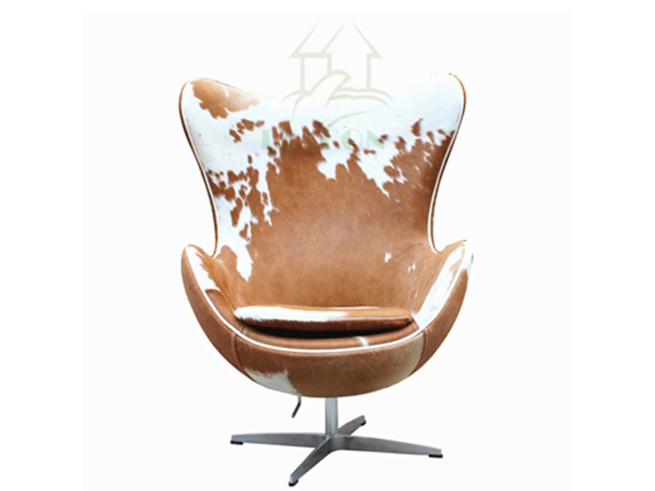 Reproduction Cowhide Leather Egg Chairs