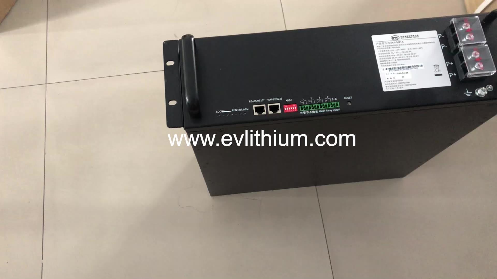 Byd lifepo4 lithium battery 48v 50ah b-box b plus2.5 battery for energy storage solar system