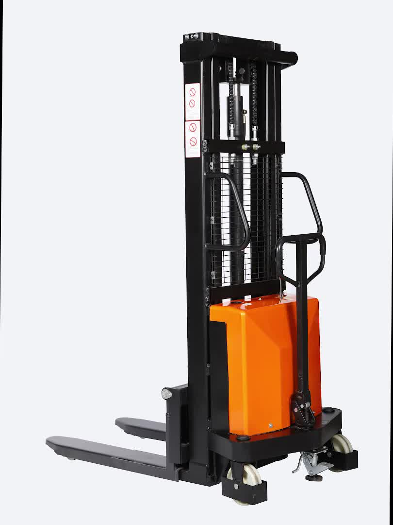 2ton Electric Stacker battery forklift powered semi electric pallet stacker