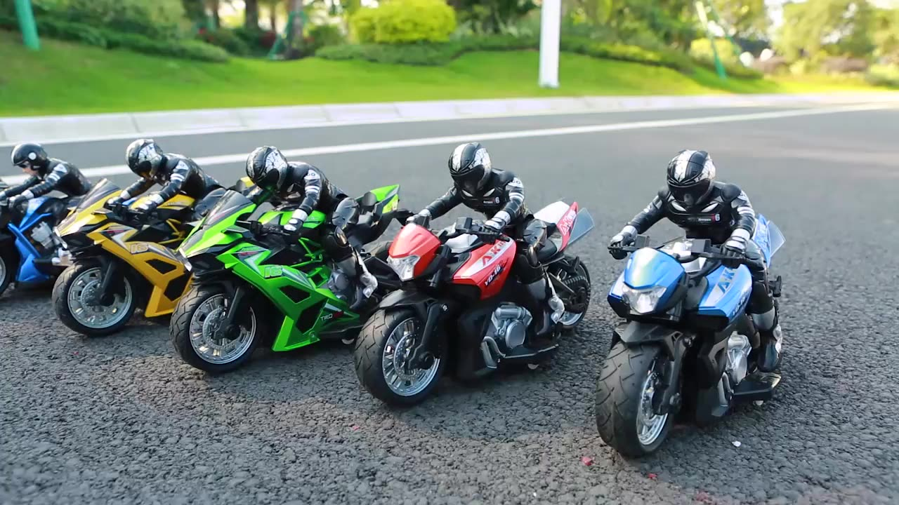 Remote control 1:10 4 channel speed toys rc model motorcycles
