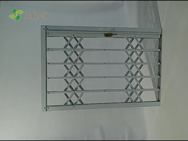 Galvanized Steel Wrought iron security bars double sash sliding grille door