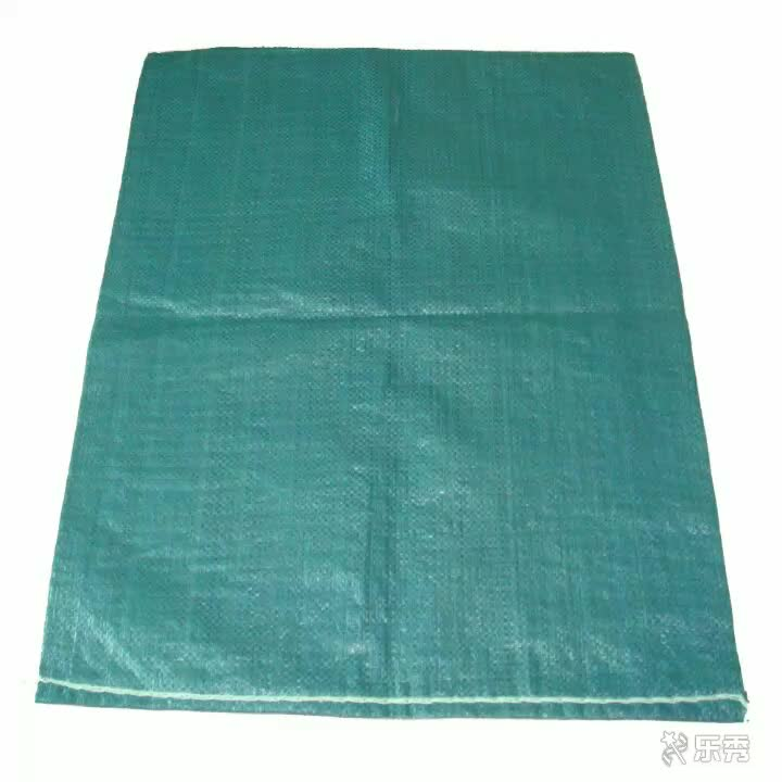 high quality low price cement sandbag sack russian building rubbish green woven 50kg pp garbage bag from China manufacturer