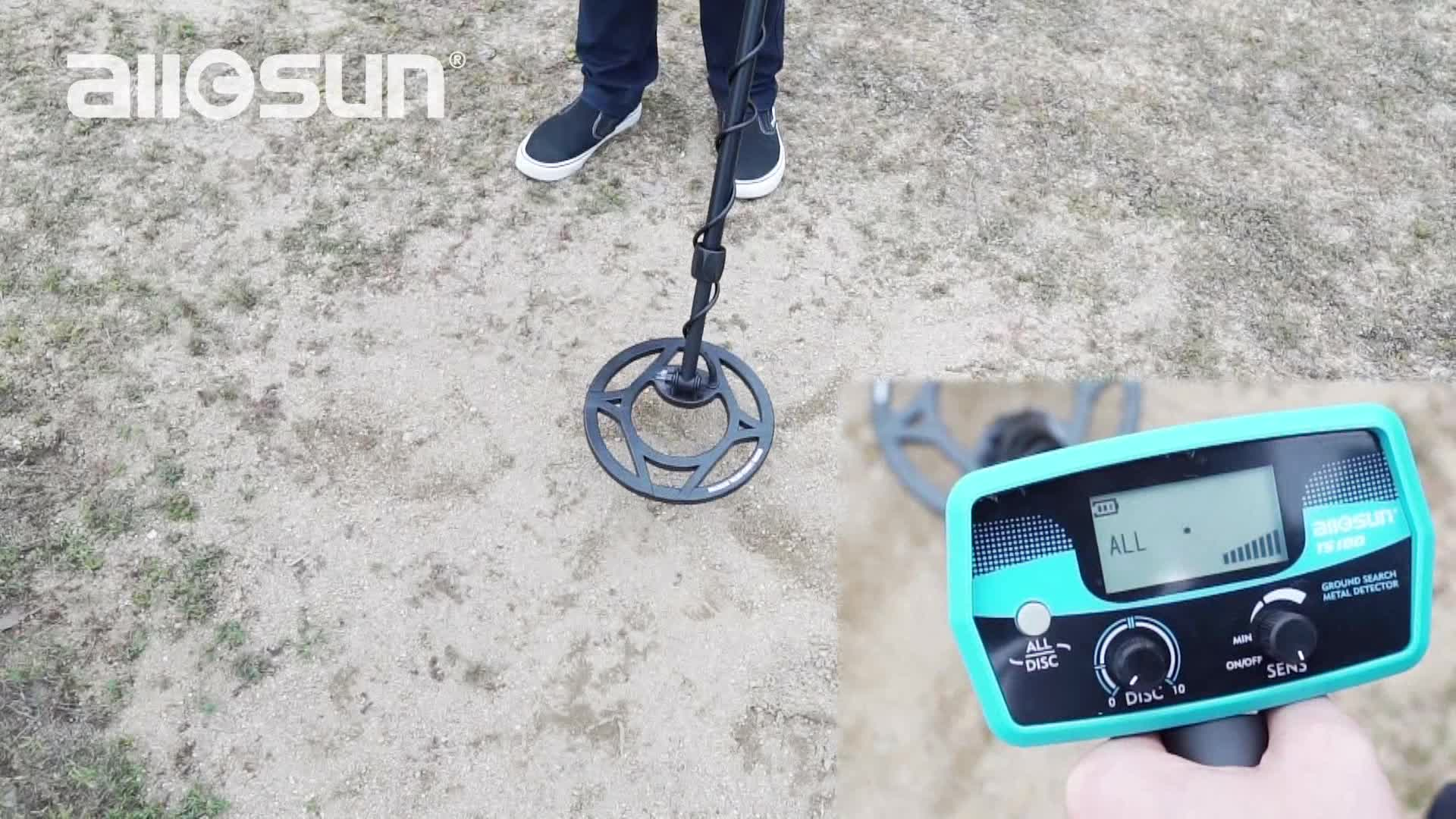 All-sun TS180 ground search metal detector with adjustable sensitivity