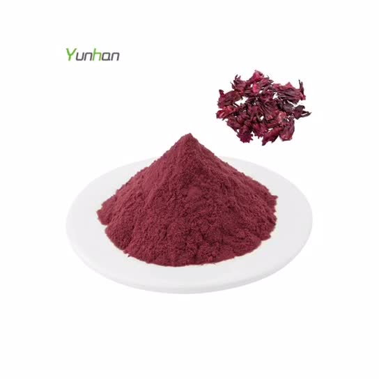 100% Pure Natural Roselle Powder Spray Dried Roselle Extract Powder In Bulk