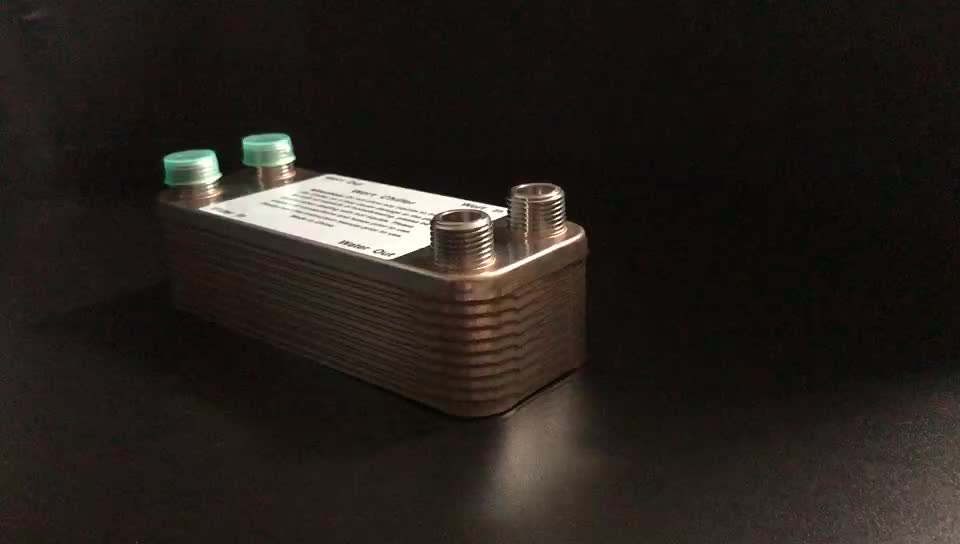 "40 Plates Wort Chiller Stainless Plate Heat Exchanger Beer Brewing Chiller With 1/2"" NPT and 3/4"" NPT Garden Hose Thread"