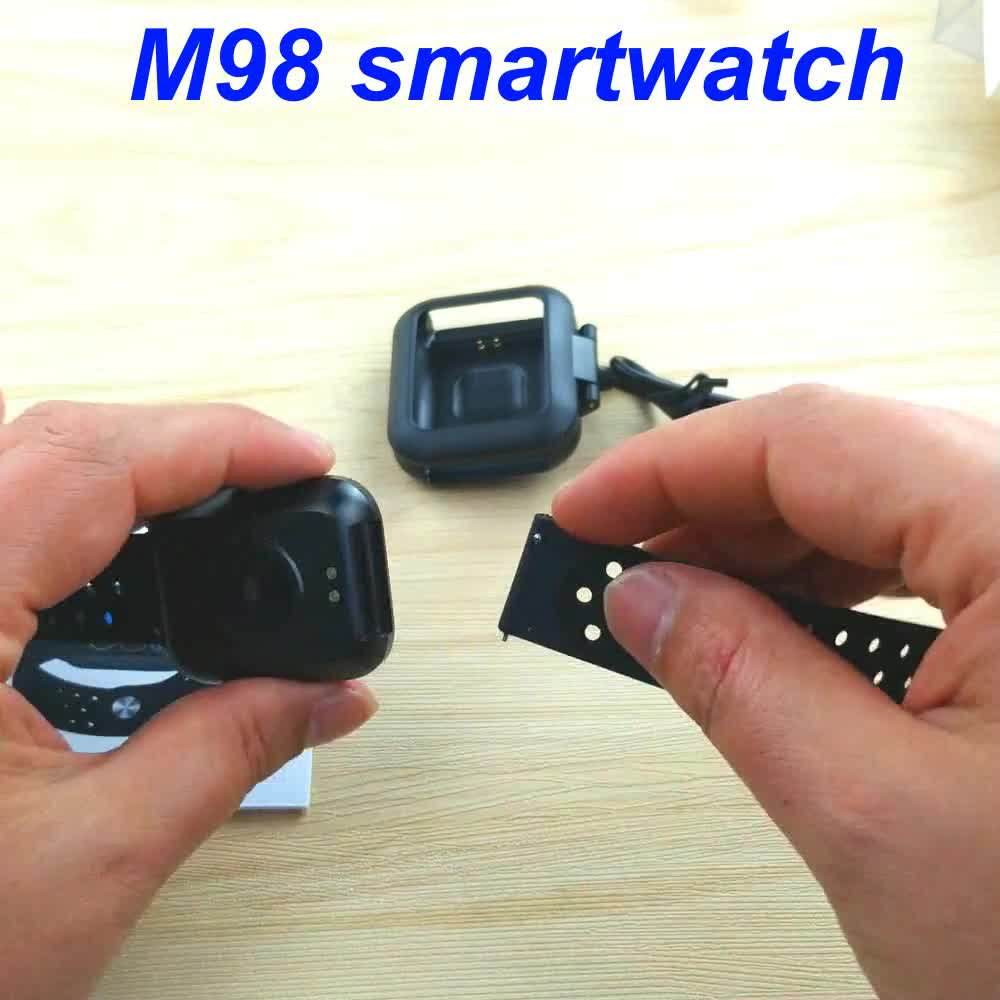 2019 cheapest 1.3 inch full screen relogio bluetooth smartwatch m98 ip67 mens digital smart watch for android ios phone