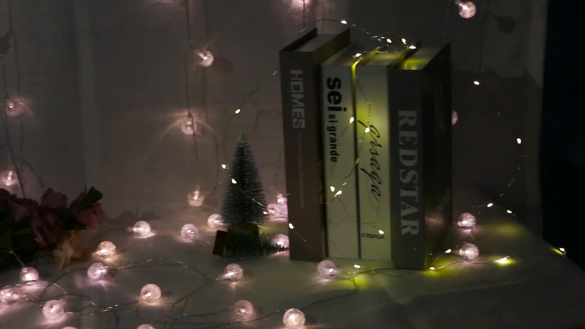 New Street Decoration Fairy String Solar Christmas Light Led Copper Wire String Light