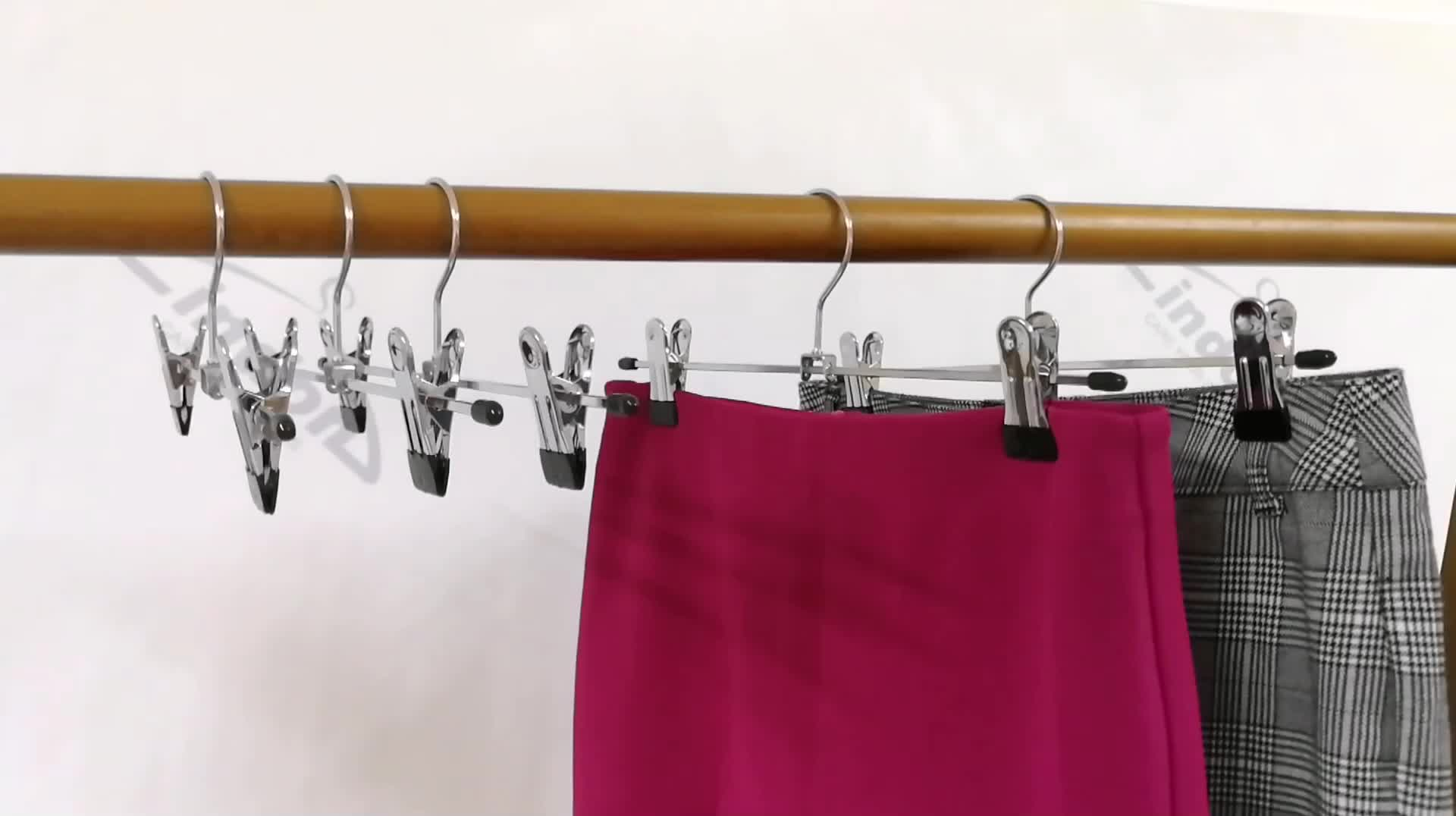 30% Off Pants Clothing Type Metal Clip Skirt Hangers with Clips