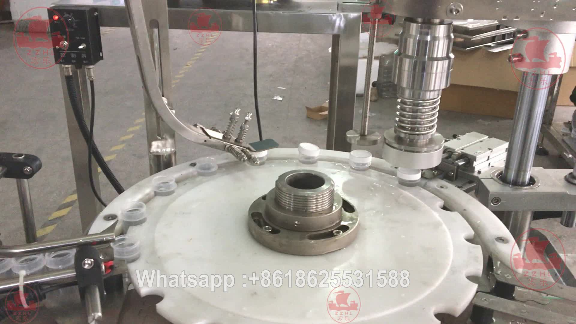 Customized Auto Rotary Round Bottle Capping Machine Plastic Bottle Capper