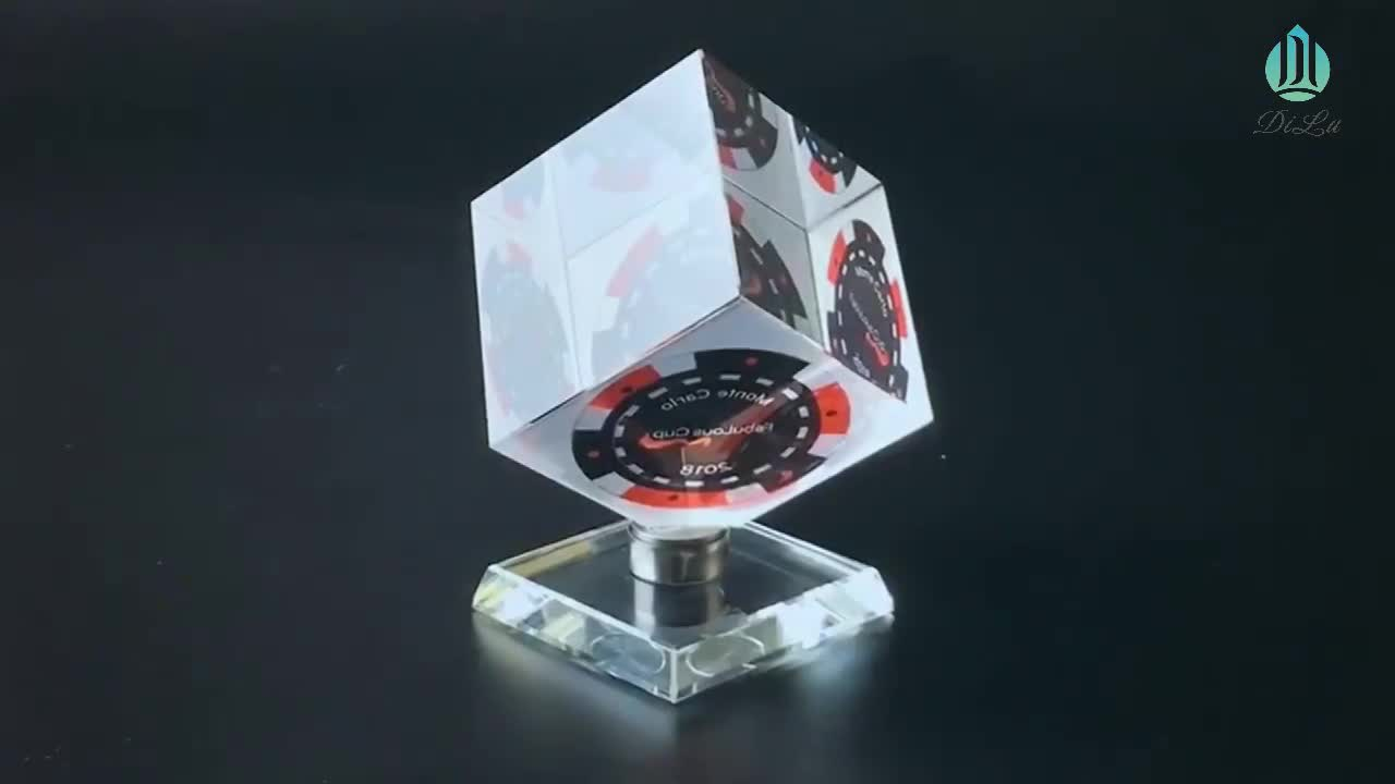 Proper Price Top Quality 3d Laser Crystal Blank Rotating Crystal Cubes For Engraving