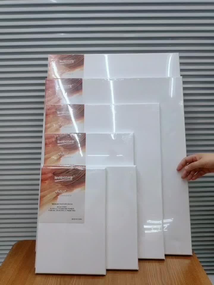 OEM 280g כותנה ריק בד עץ תמונה מסגרת שונים גדלים של אמן מתוח בד