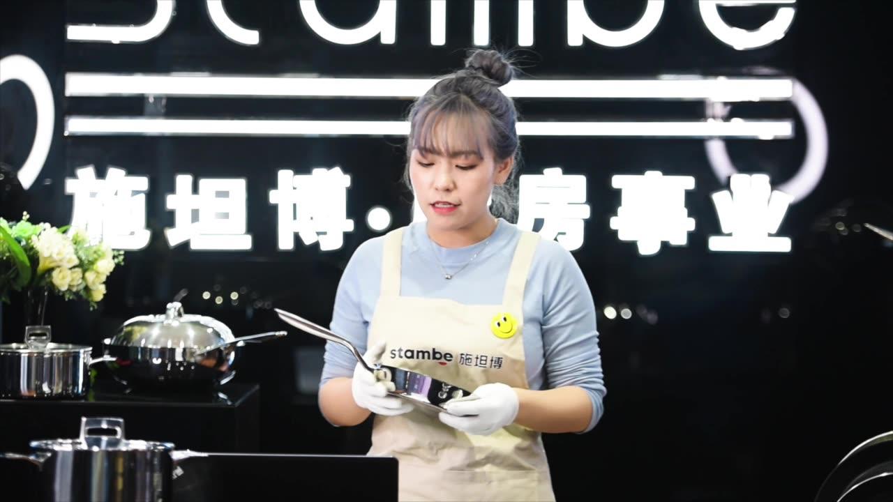stambe tüm kaplı 316 paslanmaz çelik Kore wok
