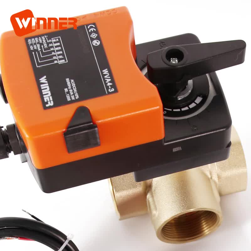 24V 0-10V/4-20mA Electric Motorized Actuator Proportional Control Ball Valve