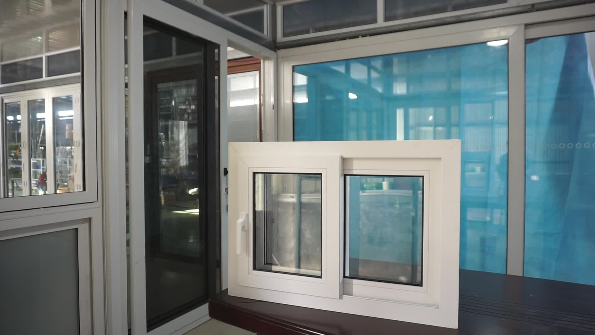 AWA Australian Standard Double Temper Glass UPVC PVC Plastic Small Sliding Windows Price