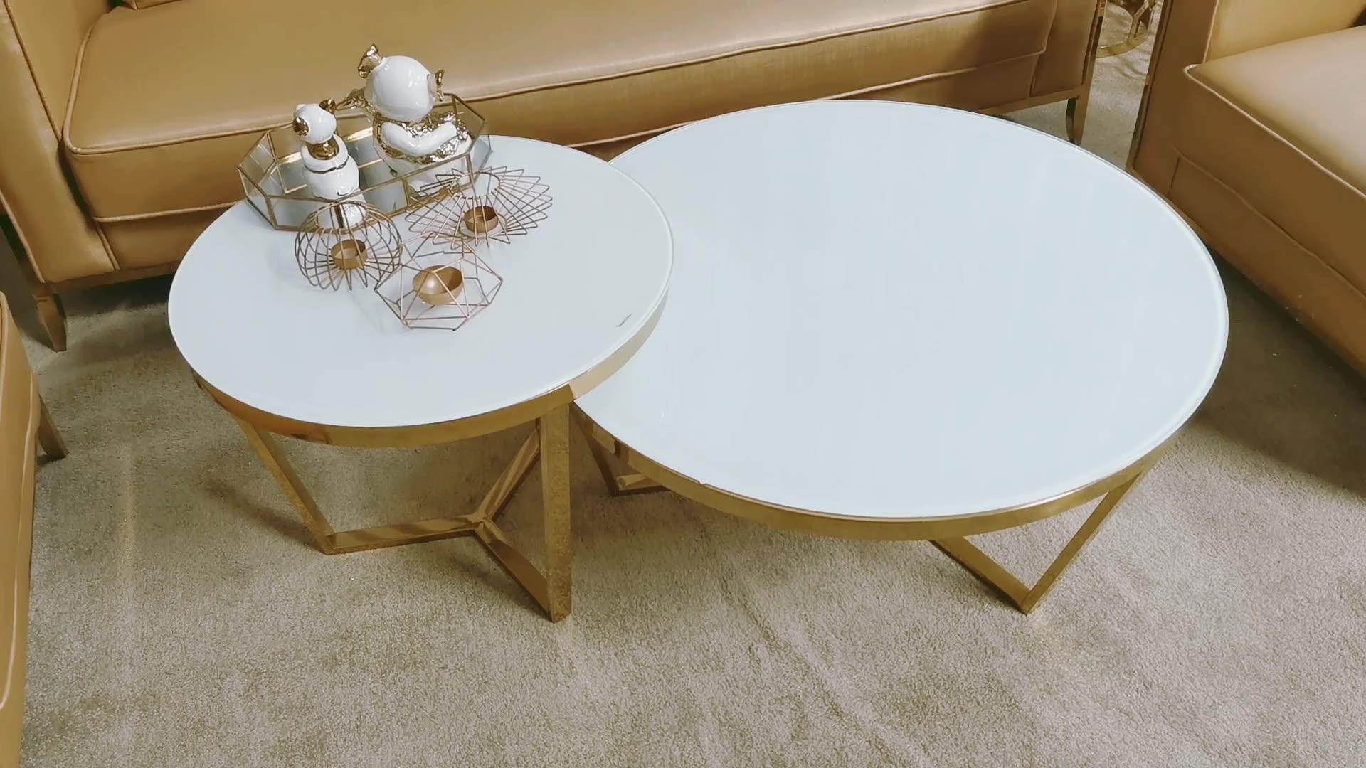2017 कमरे में रहने वाले कॉफी टेबल अद्वितीय स्टेनलेस स्टील चाय की मेज के लिए गर्म बिक्री CJ007