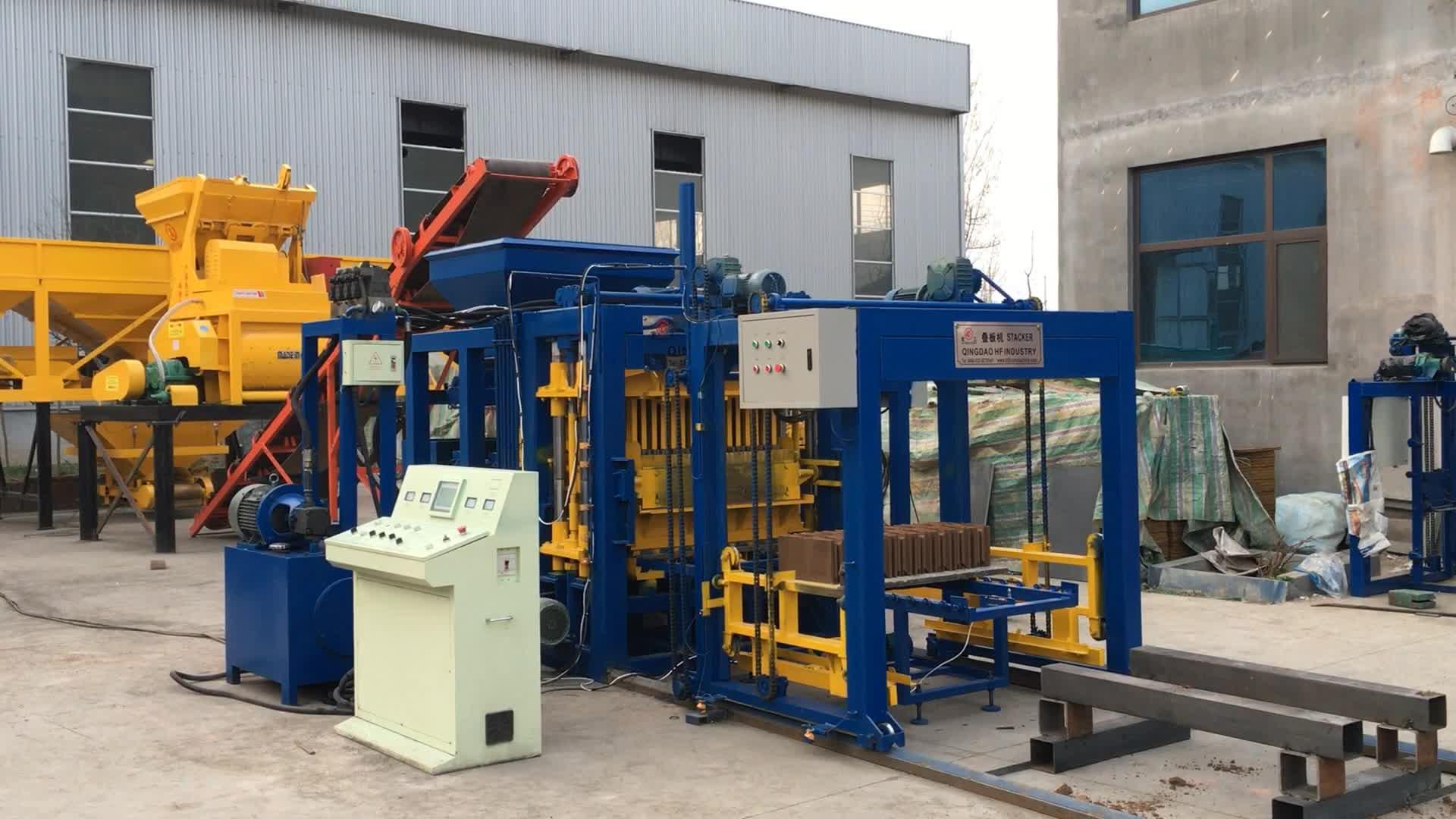 QT5-15 Brique automatique d'usine de bloc de pavé de ciment machine de moulage à vendre