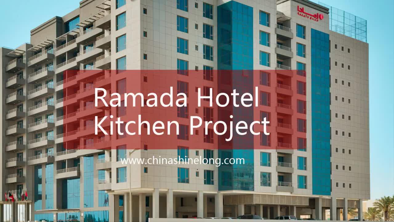Bahrain Ramada Hotel Kitchen Project by SHINELONG | 2015