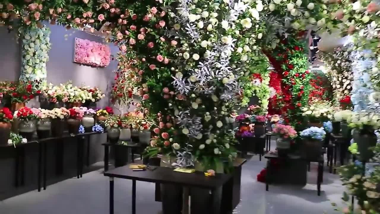 Dense Cherry Blossom Branch Artificial flower for Wedding
