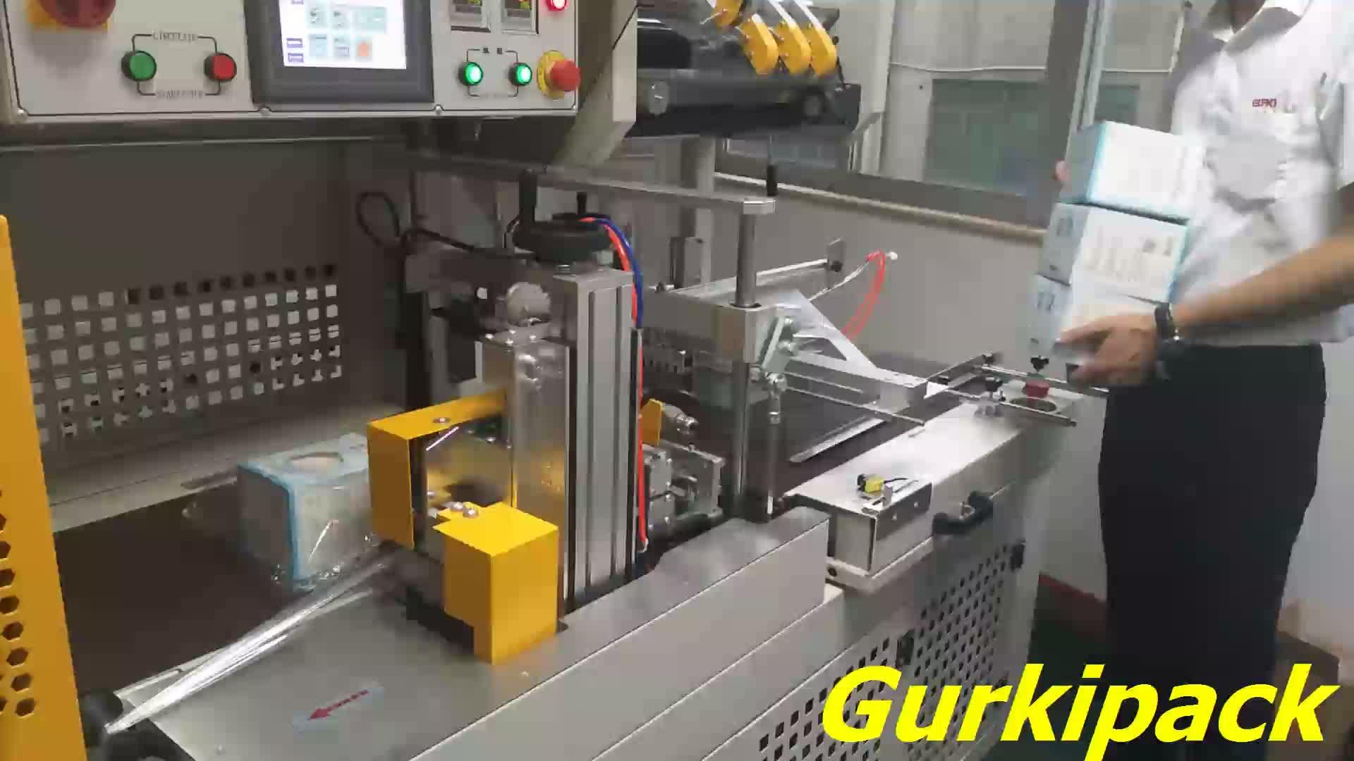 Fino a 40 pcs/min Completamente Automatico Auto Thermo Termica di Calore Calda Pof Pe Pvc Termoretraibile Film di Avvolgimento Macchina Per L'imballaggio scatola di cartone